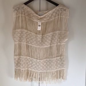 NWT Anthropologie Bohemian Crochet Top
